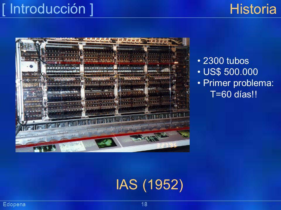 [ Introducción ] Historia IAS (1952) 2300 tubos US$ 500.000